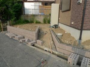 阪南市 外構工事 化粧ブロック