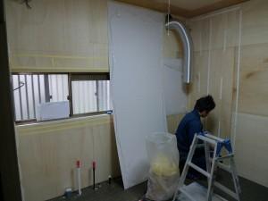 キッチン解体・下地・パネル施工